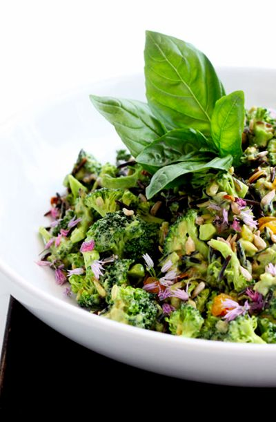 Broccoli Salad with Sprouted Rice and Citrus Avocado ...