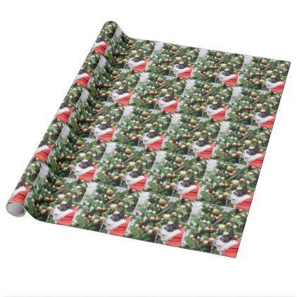 Boston Terrier Pug Dog Christmas Wrapping Paper - christmas craft supplies cyo merry xmas santa claus family holidays