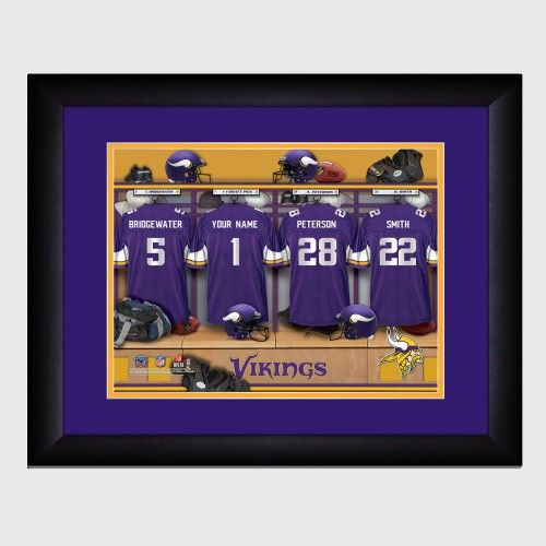 newest e1e2a a7d91 Personalized NFL Locker Room Print with Matted Frame ...