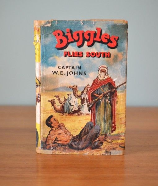 Vintage Childrens book  Biggles Flies south W.E Jonhs 1963