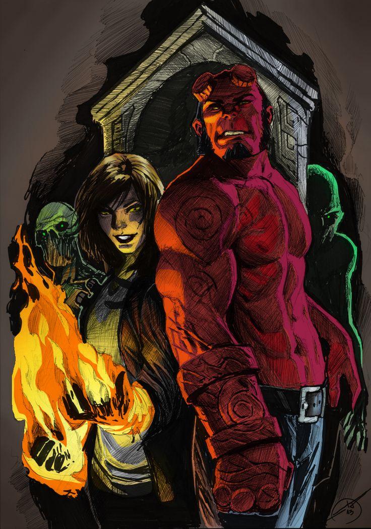 Hellboy and Liz Sherman Mar. 10 2014 by Shatteredweb.deviantart.com on @deviantART