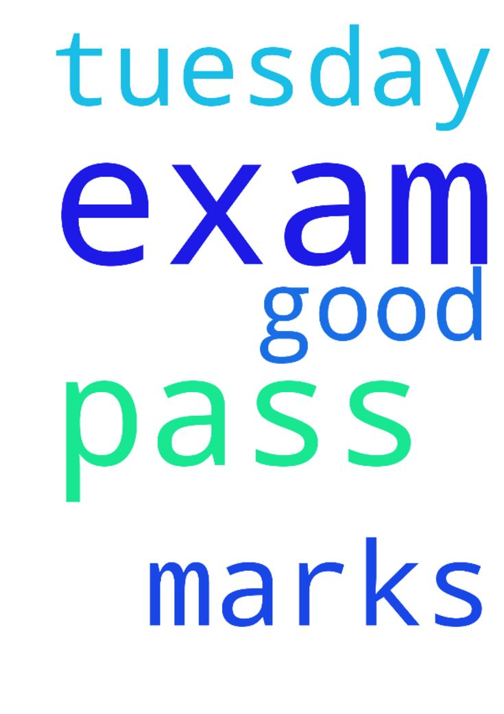 Prayer  to pass my exam -  I have my exam on Tuesday. Pray for me to pass my exams and get good marks  Posted at: https://prayerrequest.com/t/voB #pray #prayer #request #prayerrequest