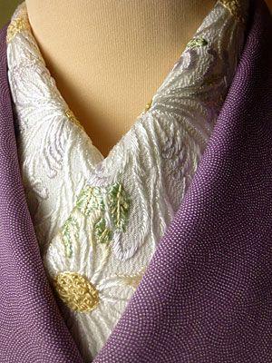 quality collar for an under kimono