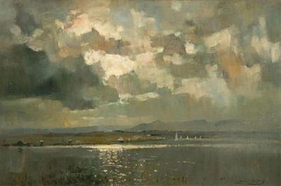 Errol Stephen Boyley - Yachting at Swartvlei, Knysna