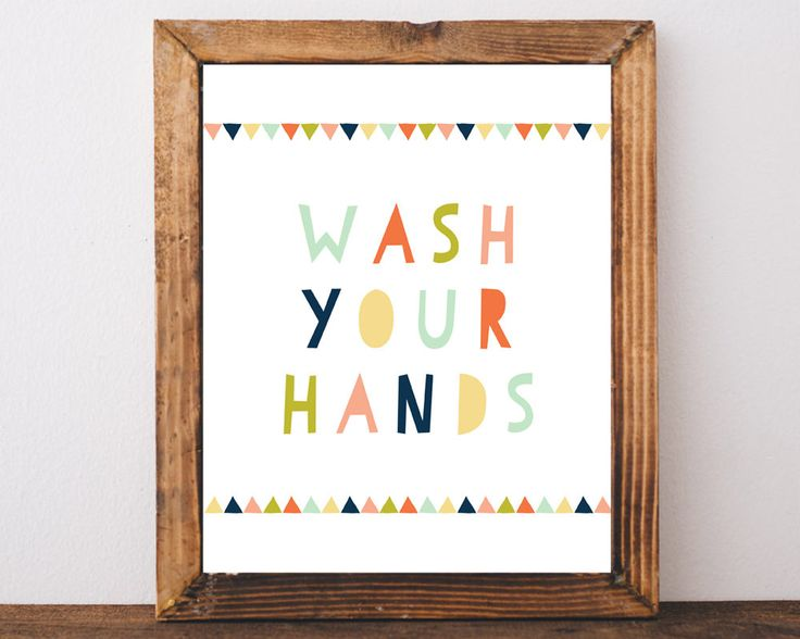 Wash Your Hands, Bathroom Sign, Kids Bathroom Art, Prints, Kids Bathroom Decor, Kids Bathroom Wall Art, Washroom Sign, Toilet sign, WC Sign by AdornMyWall on Etsy