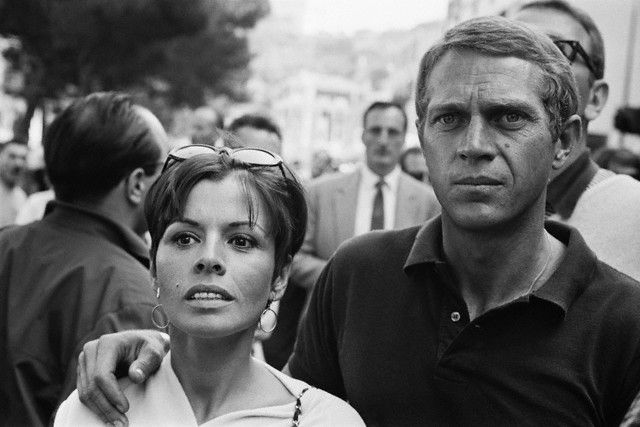 1965– Steve McQueen and his wife, actress Neile Adams at the Monaco Grand Prix. — Image by © Apis/Sygma/Corbis