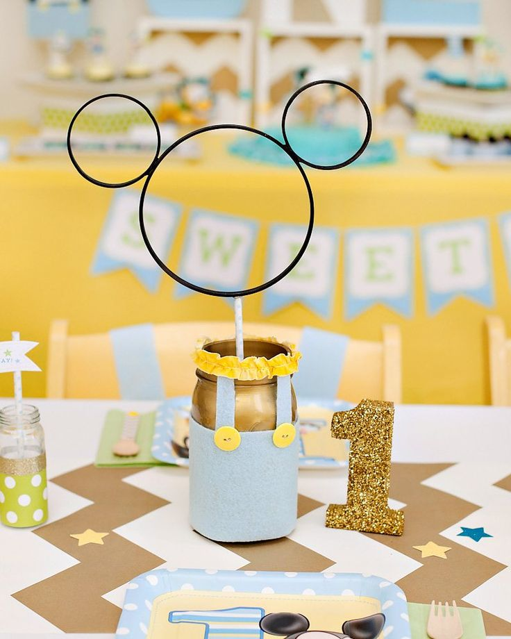 creative mickey mouse 1st birthday party ideas free party printables