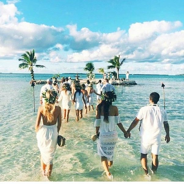 Need To Find Out Where!! Sandbar Wedding, Amazing