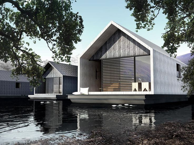Floating hotel suites in Scotland by ECOFLOAT Architects