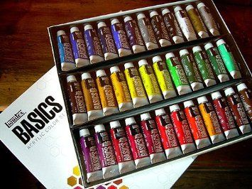Hey Mom, this is not even 30 bucks , Liquitex Basics Acrylic Paints- Set of 36 Colors