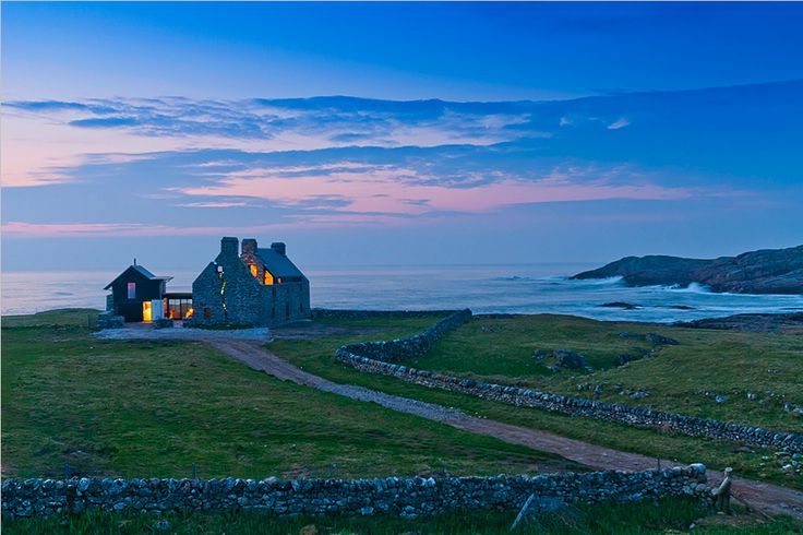 Wow. Scottish farmhouse ruins modernized. Isle of Coll, Scotland