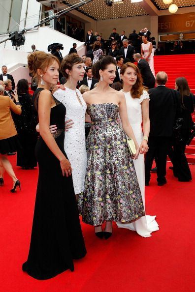 Julia Platon, Elodie Fontan, Frederique Bel and Emilie Caen attend the Premiere of 'Jimmy's Hall' at the 67th Annual Cannes Film Festival on May 22, 2014 in Cannes, France.