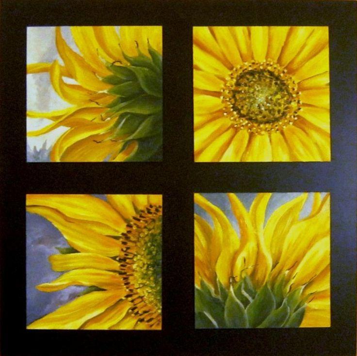 Sunflower, oil painting