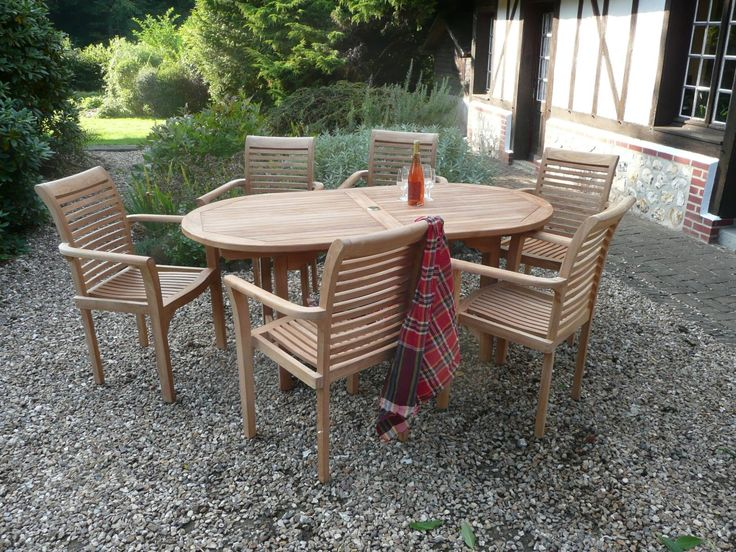 Teak Outdoor Dining Set by Humber Imports