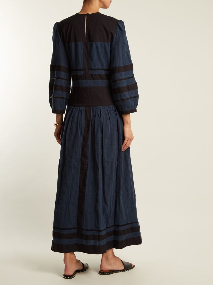 Click here to buy Isabel Marant Étoile Roomi bi-colour cotton-gauze dress at MATCHESFASHION.COM