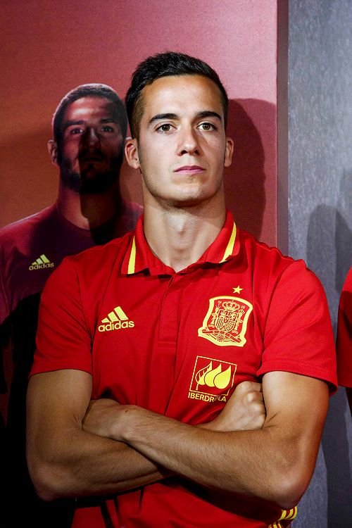 Lucas Vázquez during the presentation of Adidas new boots at Adidas Store on June 5, 2016 in Madrid, Spain.