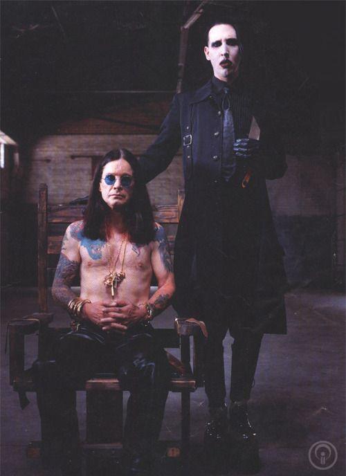 Marilyn Manson and Ozzy Osbourne