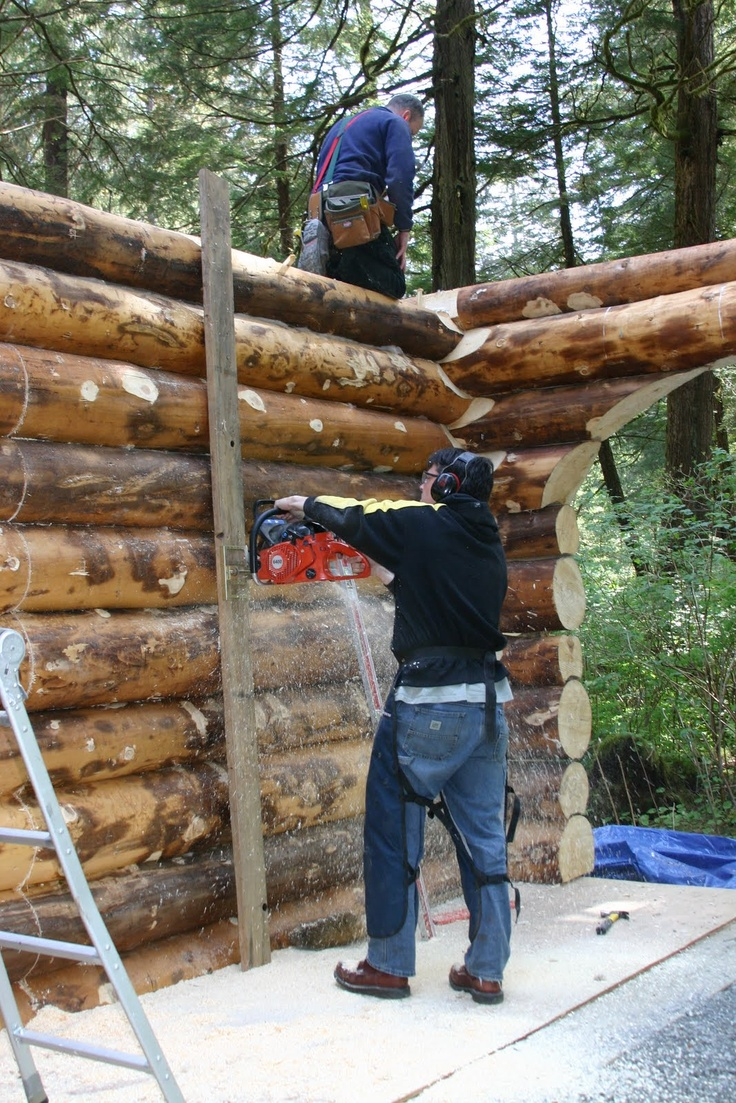 34 best doable log homes images on pinterest for Log construction
