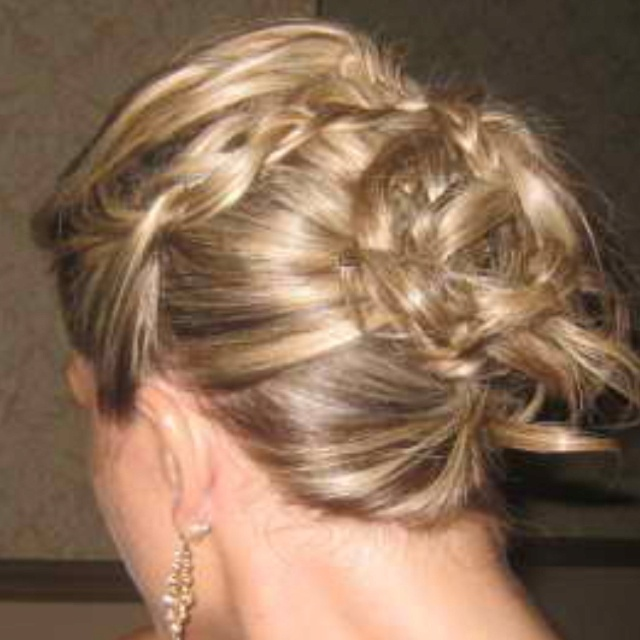Prom Hair Poof The Top Slick Back Both Sides With A
