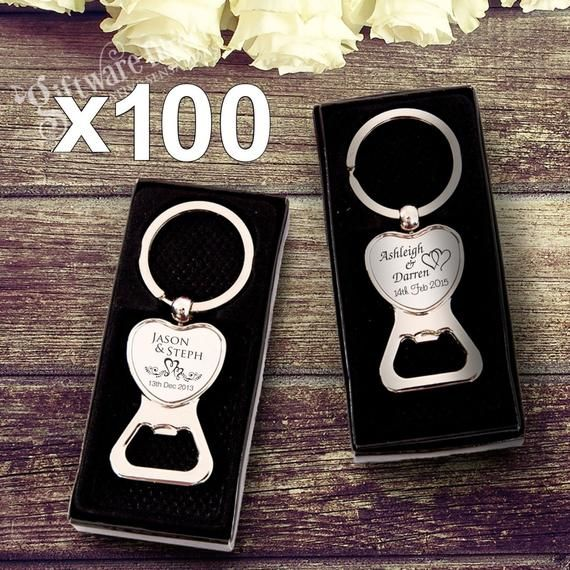 50 bottle opener keychain Bottle Opener Wedding Favor personalized bottle opener