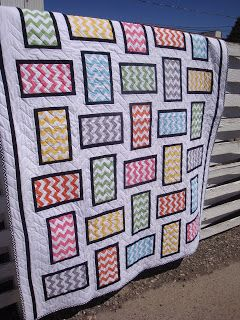 THE QUILT BARN: Chevron Sampler Quilt featuring Riley Blake Designs Chevron fabric #rileyblakedesigns #chevron #quilt
