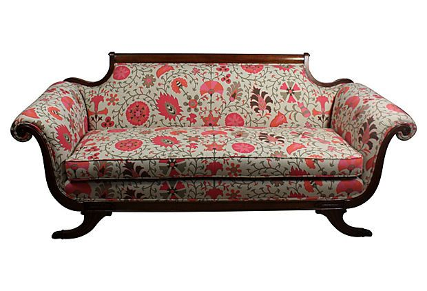 One Kings Lane Duncan Phyfe Style Sofa Colours Pattern And Rhythm Don 39 T Work Too Many