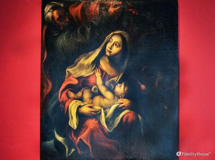 """Il quadro """"Riposo dalla fuga in Egitto"""" (1650) di Francesco Cairo si trova al Museo Diocesano di Mantova."""