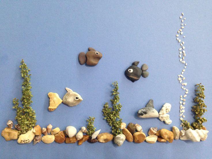 Pebble art aquarium by gülen                                                                                                                                                      More