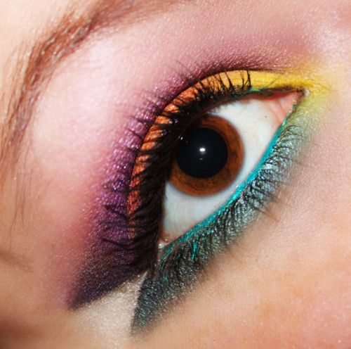 bright!: Make Up, Beautiful, Rainbows Eyes Makeup, Posts, Styles, Color Combinations, Beauty, Makeuphair Idea, Makeup Idea