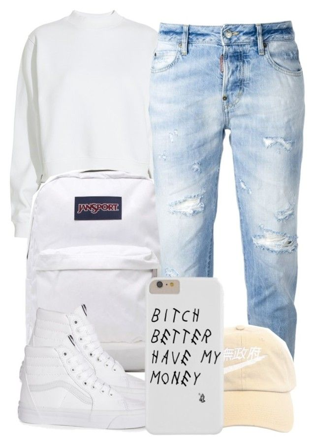 """6:11:15"" by codeineweeknds ❤ liked on Polyvore featuring Acne Studios, JanSport, Dsquared2 and Vans"