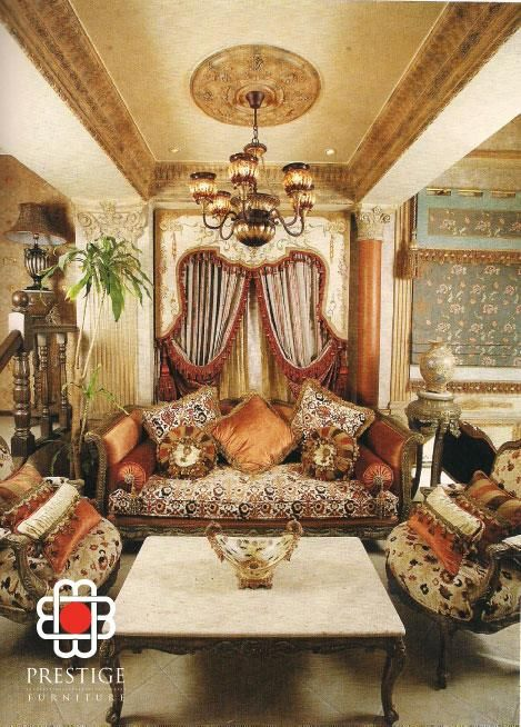 Living Room Interior By Prestige Furnitures Shows The Lavish Victorian  Inspired Interior Design With The Extravagant