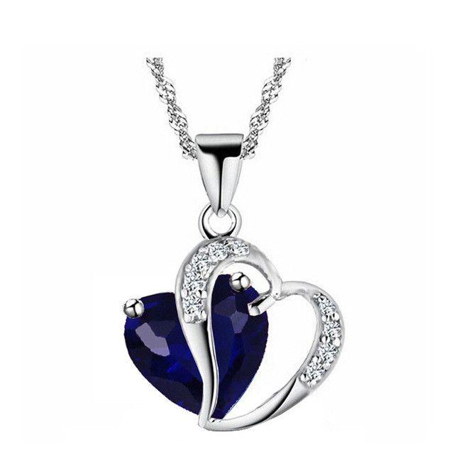 Austrian Crystal September Birthstone Necklace