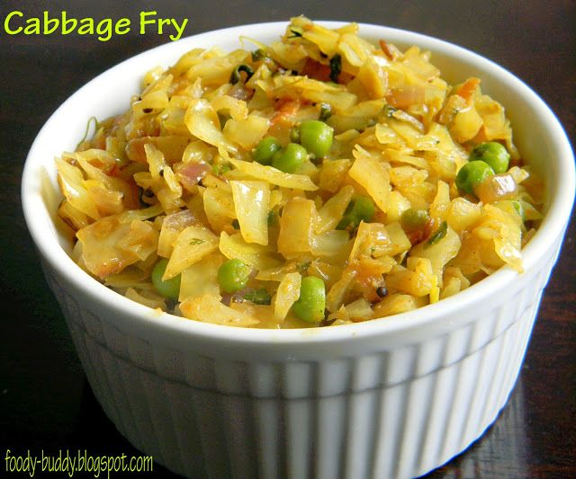 Cabbage peas fry side dish recipe for rice pinterest for Sides to bring to a fish fry