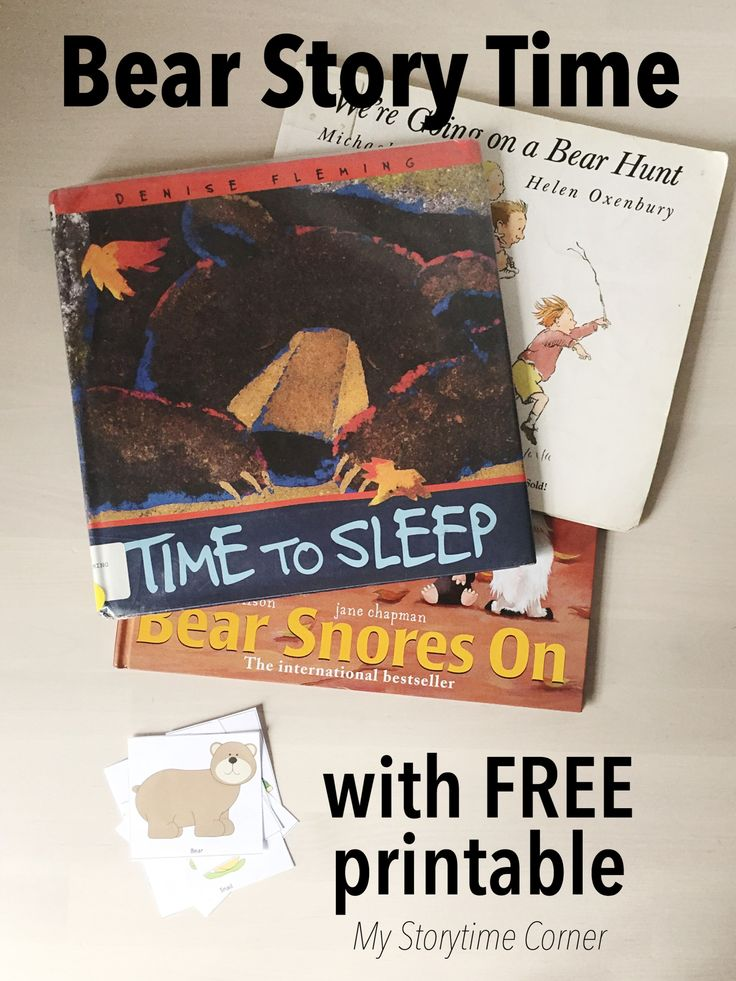 Bear Story Time for Preschoolers with free Printable from My Storytime Corner  | picture books | bears | activities | activity | bear hunt | time to sleep | bear snores on | Fleming | Rosen | Karma Wilson