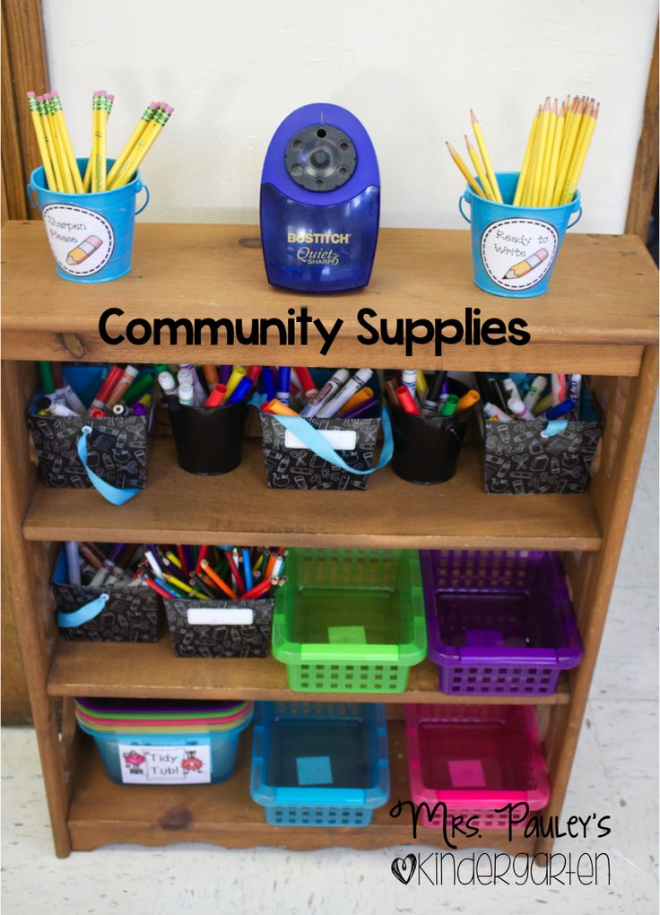 Mrs. Pauley's Kindergarten: Student Supplies Organization                                                                                                                                                     More