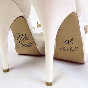 Personalised Name Shoe Stickers - Wedding Decal - Wedding Favour - Bride Gift - Bridal Shoes - Wedding Pictures - Wedding Party - Photo Prop