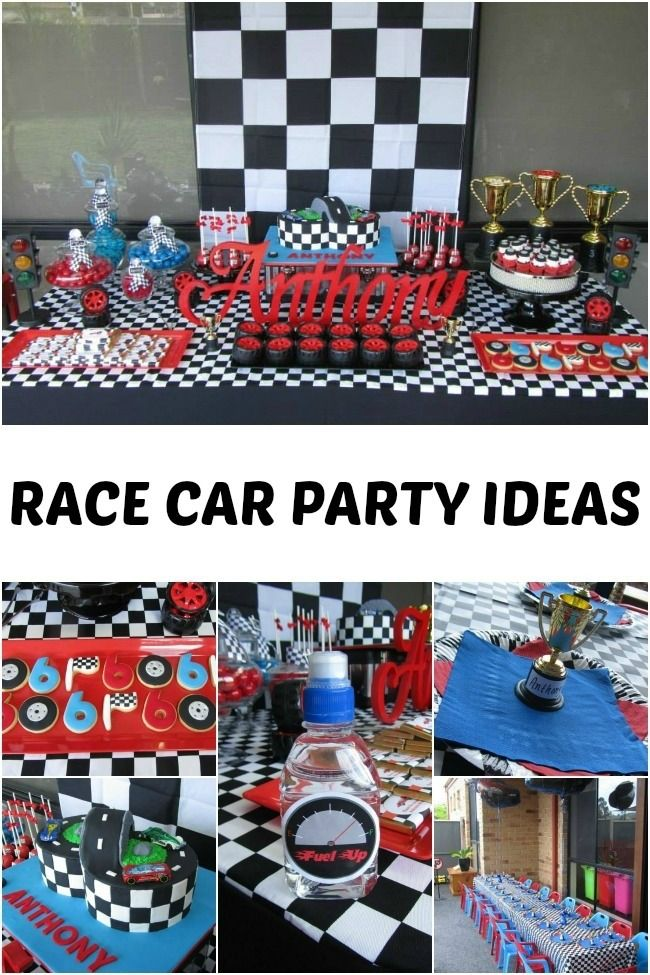 These simple, yet totally awesome, race car party ideas are perfect for your little boy's next birthday celebration!
