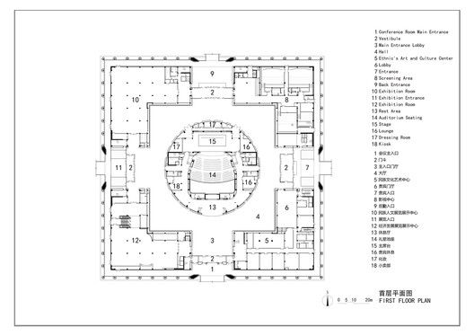 Da Chang Muslim Cultural Center,Ground floor plan