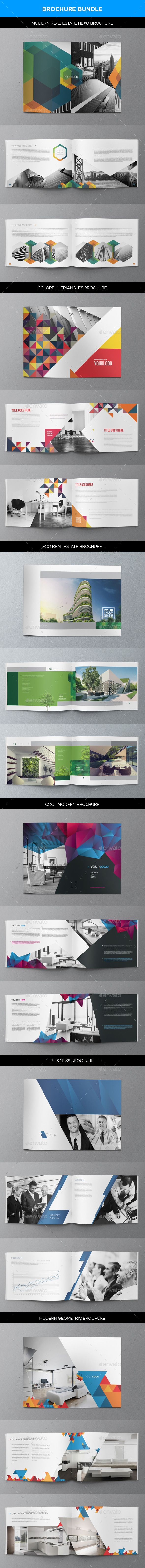 An amazing bundle of some of our best brochures. Ideal for every purpose. All of them available in A4 and Letter format.  #professional #real estate #simple • Available here → http://graphicriver.net/item/brochure-bundle-pack/9797832?s_rank=27&ref=pxcr