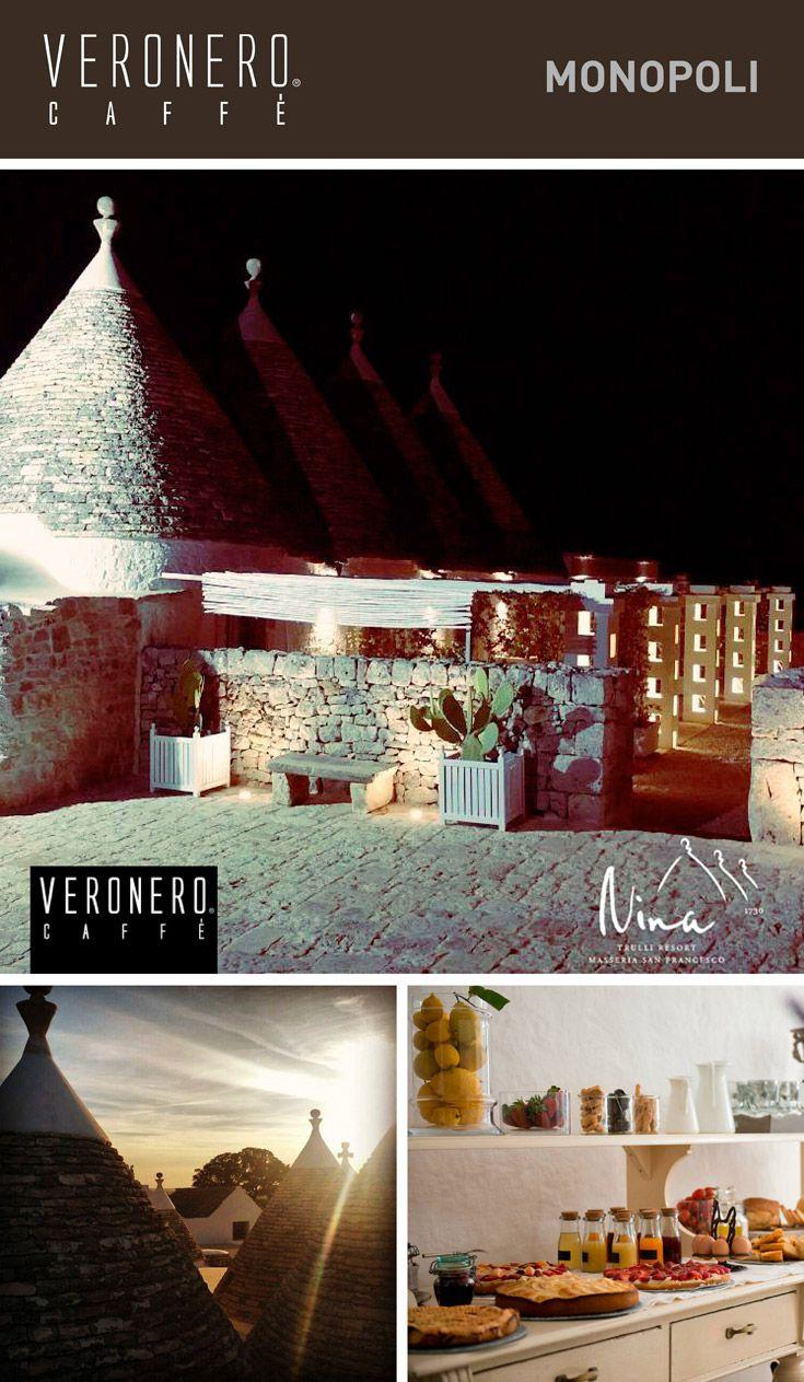 respira la tranquillità di una location incantevole gustando #veronerocaffè #passioneperilpiacere @Nina Trulli Resort - Masseria San Francesco