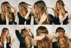 Trenza de corona, encuentra más peinados con trenzas paso a paso en http://www.1001consejos.com/peinados-con-trenza-paso-paso/