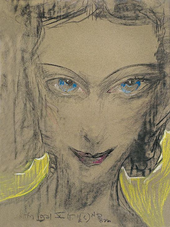 Stanisław Ignacy Witkiewicz (Polish, 1885-1939)  Portrait of Janina Turowska-Leszczynska, 1931
