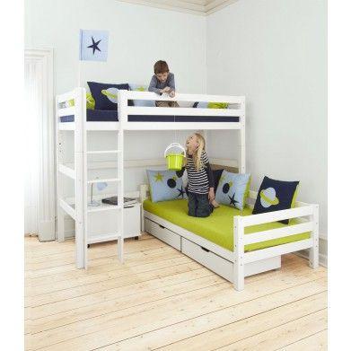 Кровать двухъярусная Hoppekids 177 см с утолщенной конструкцией угловая