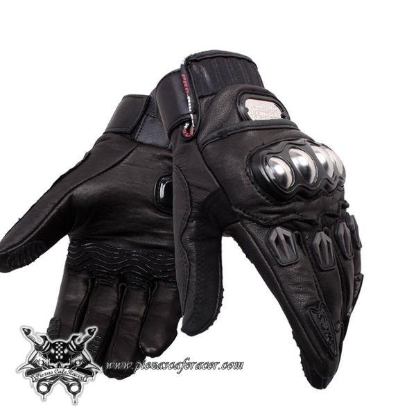 Guantes de Moto Para Piloto Fabricados en Cuero con Protecciones Color Negro - 25,54€ - ENVÍO GRATUITO EN TODOS LOS PEDIDOS