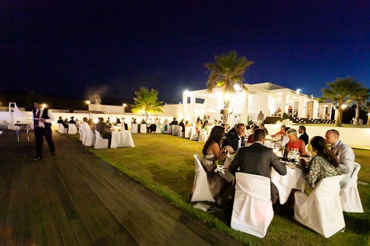 Wedding reception meal at luxury villa wedding in Crete. Moments www.weddingincrete.com