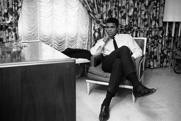 World heavyweight champion Ali sits in his room on his arrival in Houston, Feb. 20, 1967. The champ was silent on his thoughts about his draft status referring all questions to his New York attorney. The Houston Selective Service appeals board refused his appeal for a deferment. He was trying for a deferment on grounds that he is a Muslim minister. Ed Kolenovsky / AP file