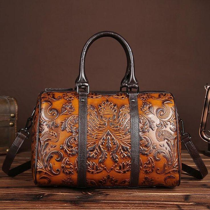 Vintage Womens Genuine Leather Handbags lady Retro Elegant