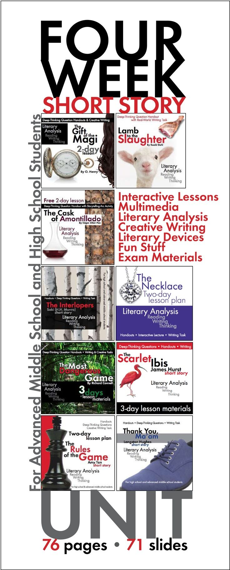 Beloved classic short stories are ramped up in this MASSIVE bundle of dynamic lessons. Click here for a full month of active learning.