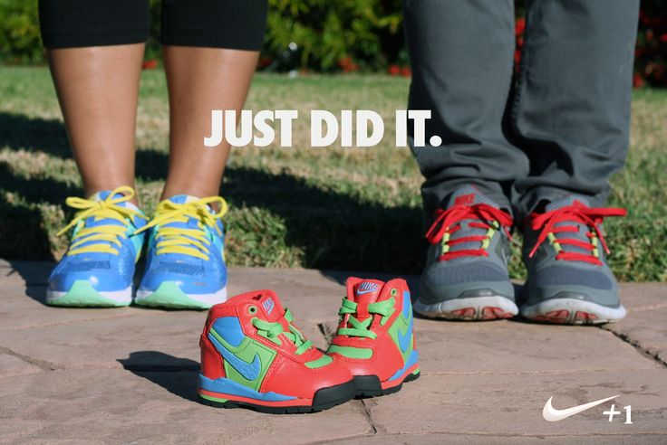 Our sporty pregnancy announcement for Baby #1 coming June 2014!