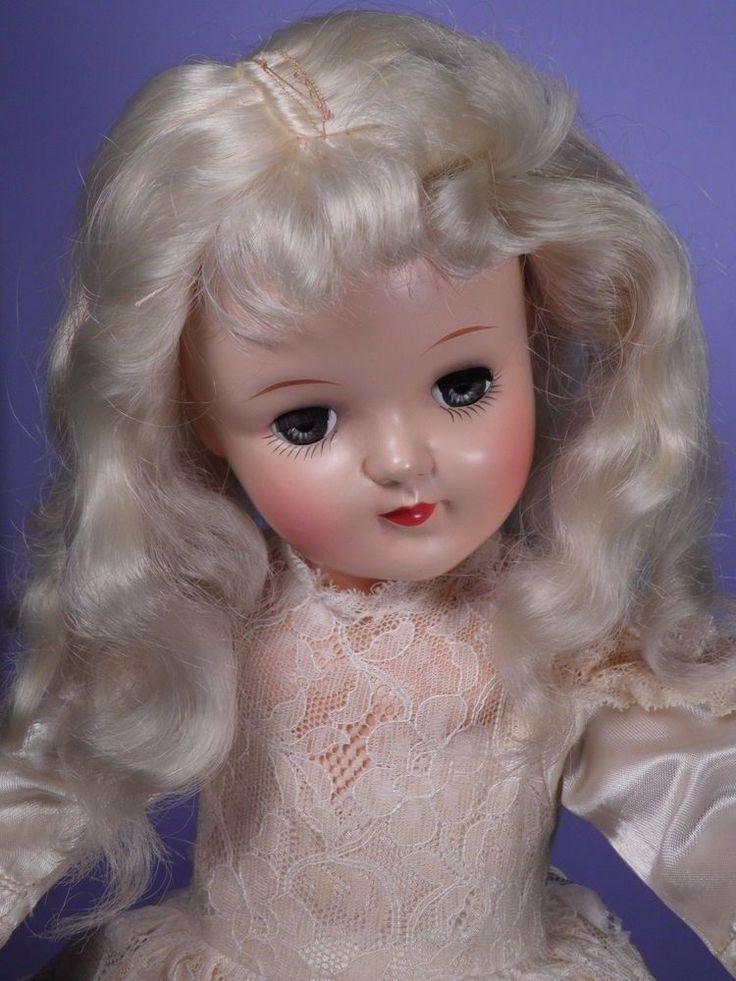 PRETTY P92 TONI Vintage Original BIG 19 In. Blonde Bride Vintage by Ideal Toy Co